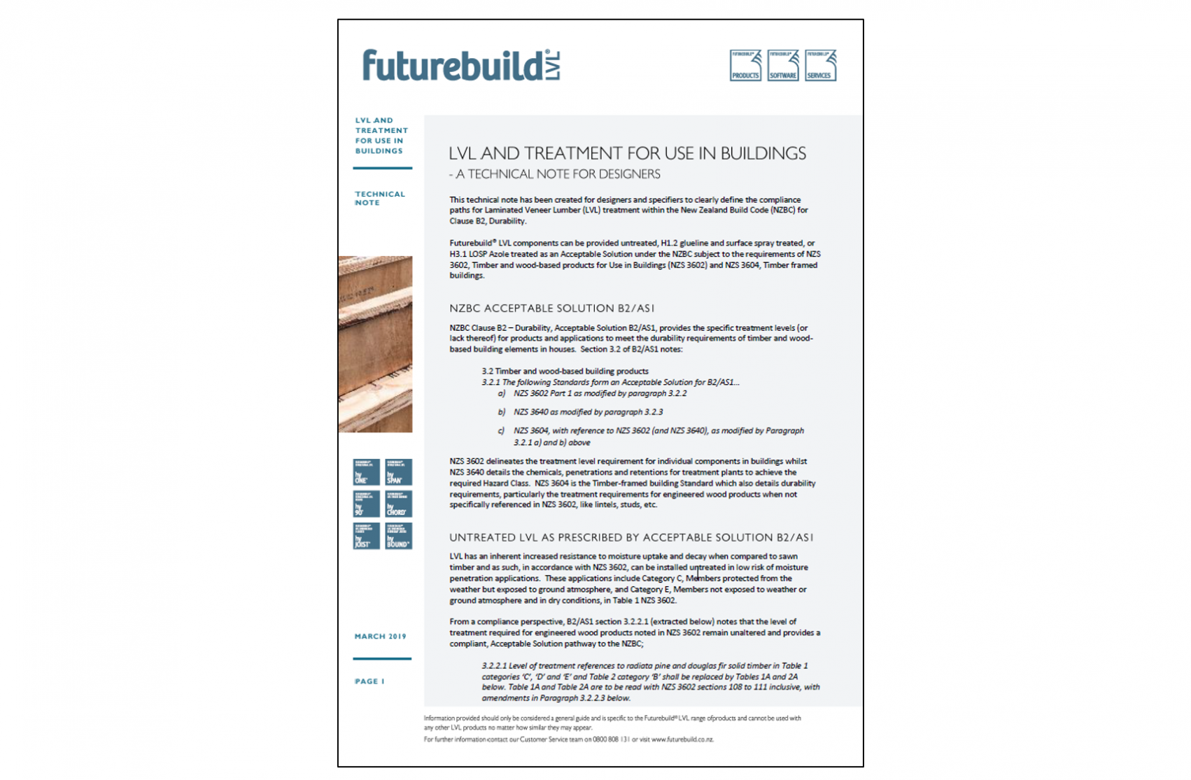 LVL and Treatment for Use in Buildings Information Bulletin